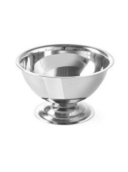 Cupa pentru inghetata cu picior, Hendi, 9 x 5 cm, 441107, otel inoxidabil, Gri