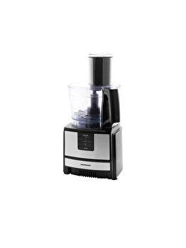 Robot De Bucatarie, Heinner, Hfp-550ix, 550w, 2 Viteze + Pulse, Discuri Din Inox, Argintiu/negru