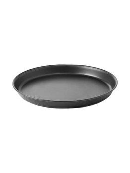 Tava pentru coacere pizza, Hendi, 26 x 2.5 cm, 617090, otel, Negru imagine
