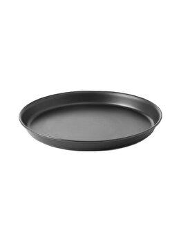 Tava pentru coacere pizza, Hendi, 28 x 2.5 cm, 617106, otel, Negru imagine