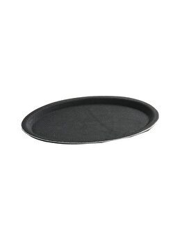 Tava pentru servire ovala, Hendi, 20 x 26.5 cm, 508725, poliester, Negru