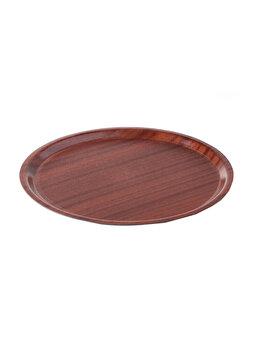 Tava pentru servire rotunda, Hendi, 38 cm, 507865, lemn armat, Maro