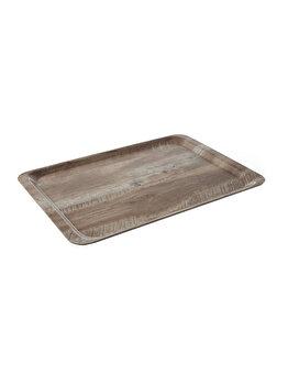 Tava pentru servire, Hendi, 24 x 35 cm, 508923, melamina, Maro