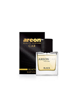 Odorizant auto lichid Areon, parfum 50 ml, New design Black imagine