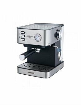Espressor Manual, Samus, Classico 20, 850 W, 20 Bar, 1.6 L, Inox, Argintiu