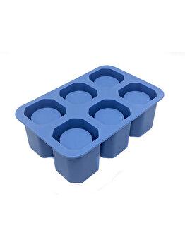 Forma pentru gheata tip pahar pentru shot, Hendi, 12.5 x 19 x 6 cm, 679050, silicon, Albastru elefant
