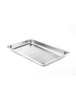 Tava perforata Gastronorm, Hendi, 53 x 32.5 x 20 cm, 802168, otel inoxidabil, Gri imagine