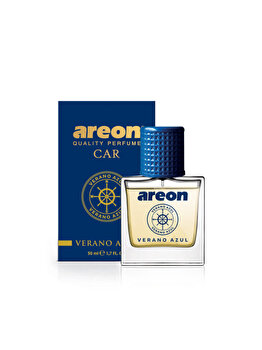 Odorizant auto lichid Areon, parfum 50 ml, New design Verano Azul imagine