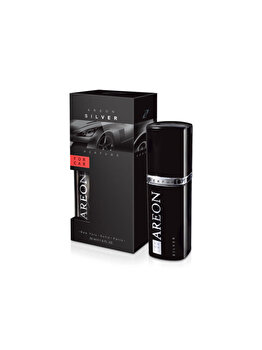 Odorizant auto lichid Areon, parfum 50 ml, Silver imagine