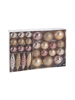 Set 31 globuri Pretty, Koopman Int., 38.5 x 27.6 x 7.9 cm, plastic, Roz