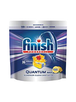 Detergent vase pentru masina de spalat Finish Quantum Lamaie, 36 tablete imagine