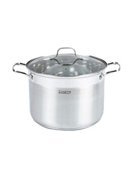 Oala inox + capac Cooking by HEINNER, 24x18cm, 8 L, Rina imagine 2021