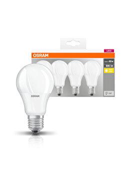 Set 4 becuri Led Osram, E27, 9W, 806 lumeni, lumina calda imagine