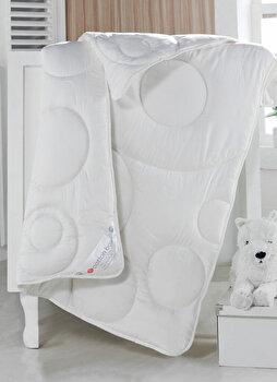 Pilota de pat pentru copii, Cotton Box, bumbac ranforce, 95 x 145 cm, 129CTN9704, Alb imagine