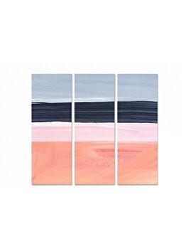 Tablou decorativ, Bianca, 553BNC1260, 3 piese, 70 x 50 cm, MDF, Multicolor imagine