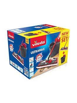 Set curatenie Ultramax, Vileda, 10 L, Rosu/Negru imagine
