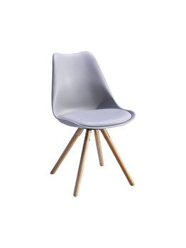 Scaun living Unic Spot, model Nordby, Gri, polipropilena, 48 x 42 x 80 cm imagine 2021
