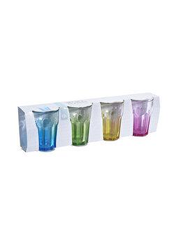 Set 4 pahare Excellent Houseware, 360 ml, sticla, Multicolor