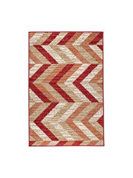 Covor Modern & Geometric Caramel, Rosu, 100x150 cm, C23-031010 elefant