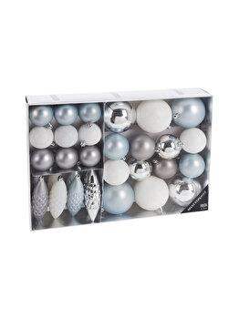 Set 31 globuri Koopman Int., 38.5 x 27.6 x 7.9 cm, plastic, Alb