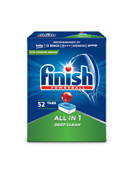 Detergent vase pentru masina de spalat Finish All in One, 52 tablete imagine