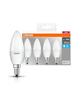 Set 4 becuri Led Osram, E14, 5,0W, 470 lumeni, lumina neutra imagine