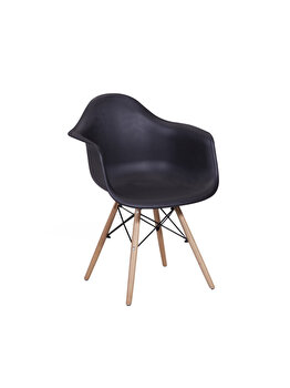 Scaun living Unic Spot, model Shell, Negru, polipropilena, 62 x 61 x 84 cm imagine 2021