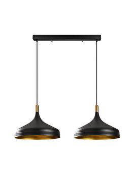Candelabru Opviq Saglam - 3777, exterior negru cu interior auriu imagine