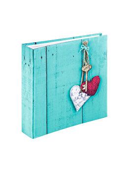 Album foto Hama Rustico Love Key 200 poze, 2169, 10 x 15 cm, Albastru imagine