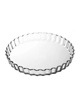 Vas termorezistent 1.3L, Glass Bakeware, Ocuisine, 40614, sticla termorezistenta, Incolor imagine