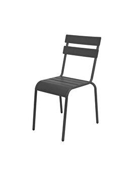 Scaun metalic pentru gradina, Koopman Int., negru, 56.5 x 45.5 x 81 cm imagine