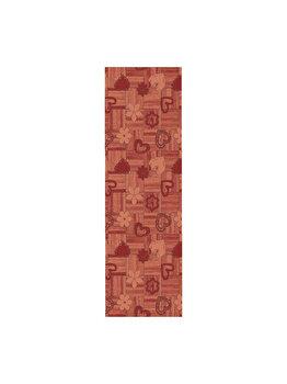 Traversa Decorino Modern & Geometric CT42-131219, 50 x 150 cm, poliester, Rosu imagine