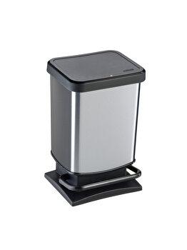 Cos gunoi pedala 20L Paso, Rotho, 60138, plastic, Gri
