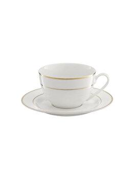Set cafea 12 piese Aura gold, Ambition, 29194, portelan, Alb elefant