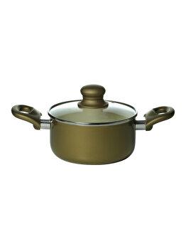 Oala ceramica capac 28 cm, No name, 30643, aluminiu, Verde imagine