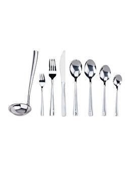 Set tacamuri Excellent Houseware, 40 piese, CC4100420, 49 x 35 x 5 cm, otel inoxidabil, Gri imagine