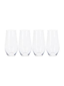 Set Koopman Int. 4 pahare apa, SR4000010, 580 ml, 17.6 x 17.6 x 17 cm, cristal, Incolor elefant