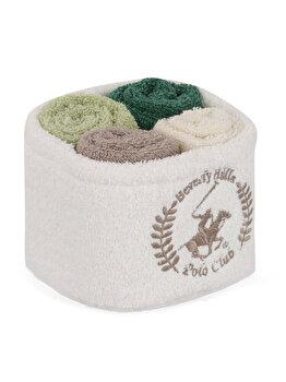 Set 4 x prosoape de baie, Beverly Hills Polo Club, 30 x 30 cm, 355BHP0221, bumbac, Multicolor