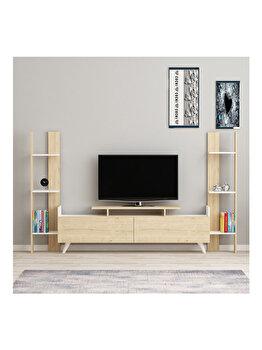 Comoda TV, Arnetti Lara, 29.5 x 182.6 x 114.6 cm, 550ARN2118, pal melaminat, Multicolor