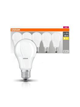 Set 5 becuri Led Osram, E27, 9W, 806 lumeni, lumina calda imagine