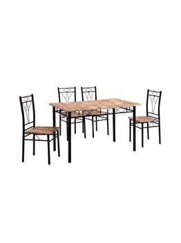 Set masa cu 4 scauneVera UnicSpot, masa: 120 x 70 x 74 cm, scaun: 38 x 37 x 90 cm imagine