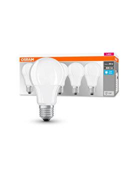 Set de 5x bec Led Osram, LED BASE CLASSIC A, E27, 8.5W (60W), 220-240 V,lumina neutra imagine