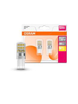 Set 2 becuri Led Osram, G9, 1,9W, 200 lumeni, lumina calda imagine