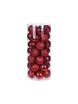 Set 35 globuri Koopman Int., 6 cm, plastic, Rosu imagine