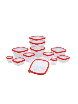 Set 12 caserole Excellent Houseware, 314415860, 120 - 1700 ml, 35.5 x 17 x 14.5 cm, polipropilena, Rosu imagine