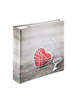 Album foto Hama Rustico Metal Heart 200 poze, 2168, 10 x 15 cm, Gri imagine