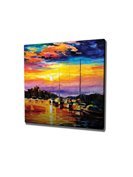 Tablou decorativ, Vega, 265VGA1305, 45 x 45 cm, CANVAS, Multicolor imagine