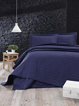 Cuvertura, EnLora Home, bumbac/poliester, 240 x 220 cm, 162ELR9493, Albastru imagine