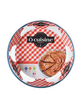 Vas termorezistent 26 cm Glass Bakeware, Ocuisine, 40616, sticla termorezistenta, Incolor imagine