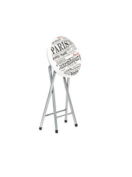 Taburet pliant Cosmo Paris alb imagine